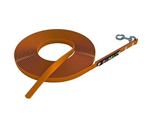 BUMAS - sport - Schleppleine aus BioThane® in neon orange 5 m