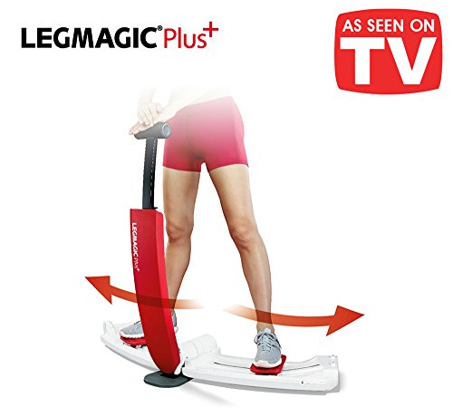 L 'Original LEG Magic Plus. Herramienta Fitness para el entrenamiento Audio de patas y Culo. Ejercicio para Glúteos de Urlo. Para migliorare L 'efecto y rassodare el fondoschiena – Alzare tonificare tonificarli a Mandolina Tonici Sodi marcar facciones lado B perfecto compacto, plegable y Salvaspazio – Total Workout Fitness Ab TB Bench Booty Body Trainer – lmp002 White