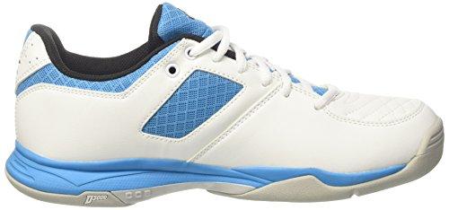 Diadora Herren S. Challenge 2 Carpet Tennisschuhe Elfenbein (Bianco Nero Blu Fluo)