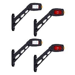 4x LED luce di indicatore laterale 12V 24V e-contrassegnato auto camion rimorchio camper caravan Van luce di posizione coda tripla funzione rosso bianco arancione universale