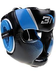 Gazechimp Casco de Boxeo de Desmontable Accesorio de Protecciones de Artes Marciales MMA Gear Protector de Ajustable - Azul