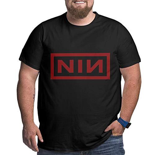 Eivan N-I-N Herren T-Shirt L Rundhalsausschnitt Baumwolle Kurzarm Shirt Gr. XXXXX-Large, Schwarz