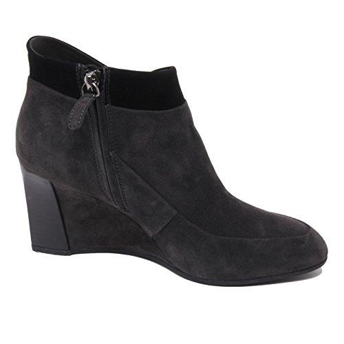 B4820 tronchetto donna TOD'S T75 scarpa zeppa grigio/nero ankle boot shoe woman Grigio scuro/Nero