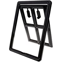 F Fityle Pet Door For Screen Door, 2 Way Cats Dogs Door Dog Supplies Puertas Flaps - Negro, L