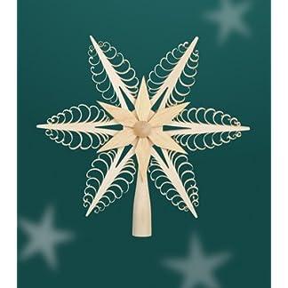 Christbaumspitze-Weihnachtsbaumspitze-Baum-Holz-Spitze-Baumspitze-Weihnachten-24cm-Erzgebirge-NEU