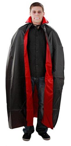 Foxxeo 10038 | Kostüm Umhang Vampirumhang Vampir Rot Schwarz Gr. M - XXL, ()