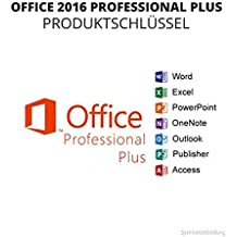 Microsoft Office Professional Plus 2016 - Vollversion - ESD - 32/64 Bit