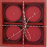 Rustic Rituals, Votive Candles Set Rose Scented Glass Candle Holder Long Lasting Burn Time 5 Hours - Set Of 4| Diwali Gift| Christmas| Wedding| Gift Box