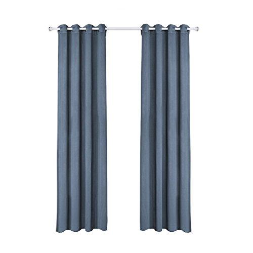Denim Vorhänge (AGAING-home Againg mit Kabeldurchführung Vorhänge-Fenster oder für Türen, 1Stück, 52-inch-by-84-inch, denim-blau, 52X95inch)
