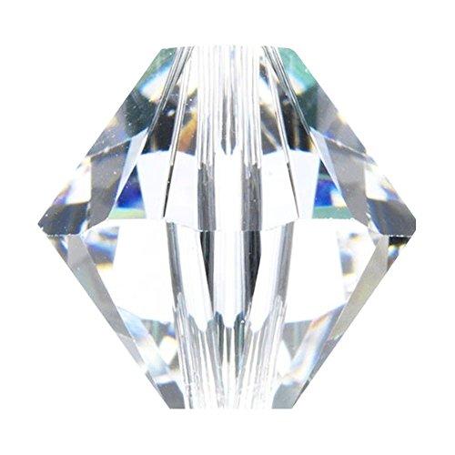 - 4mm Glasperlen Bicone Xilion - Kristall - 20pk ()