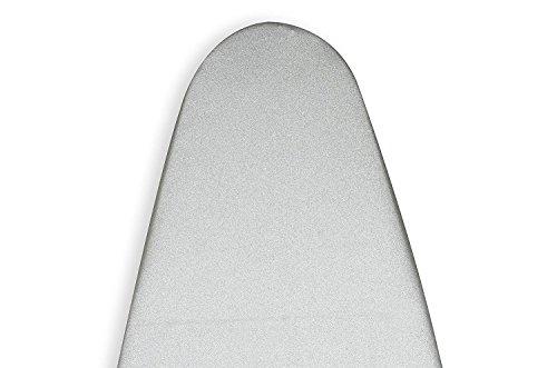 Encasa Homes Bügelbrettbezug 'Silver Premium' Metallisiert mit Schaumstoffpolster (Passend für Board der Länge 119-124cms & Breite 36-40cms)