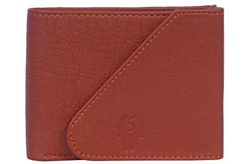 Samtroh Men Tan Artificial Leather Wallet (3 Card Slots)  available at amazon for Rs.149