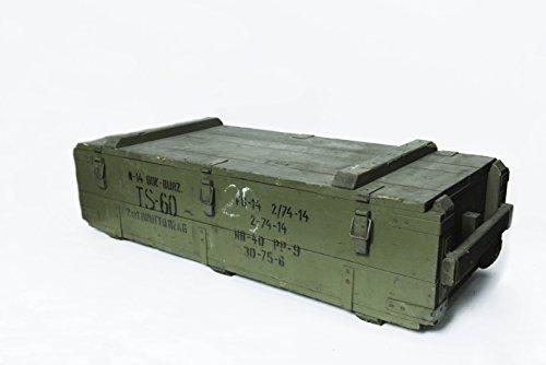 1 x Originale Munitionskiste Holzkiste aus Holz, Lagerkiste Werkzeugkiste, Transportkiste, Truhe, Dekokiste AR1