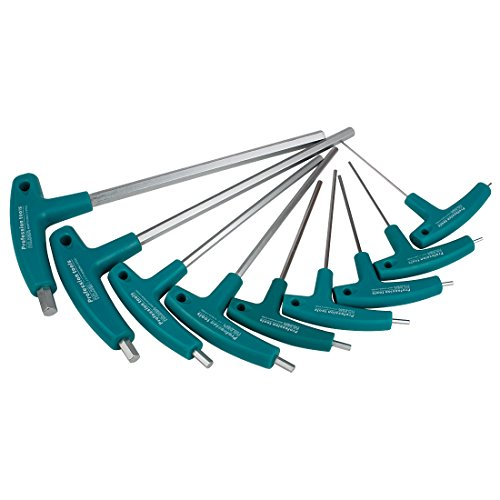 ntschlüssel Fluch Schraubenschlüssel Set Metrisch mit T-Griff NLJBS-02 (1.5+2+2.5+3+4+5+6+8+10mm) ()