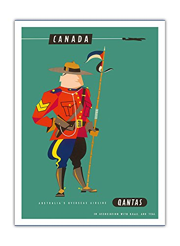 canada-police-montee-royale-canadienne-mountie-qantas-empire-airways-qea-compagnie-aerienne-vintage-