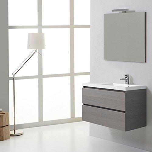 Mobile bagno sospeso manhattan 90 cm con cassetti destro