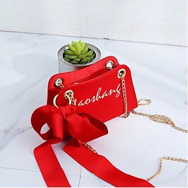 SUNNY KEY-Borsa a tracolla @ Donna Borsa a tracolla PU (Poliuretano) Per tutte le stagioni Serata/evento Casual Baguette Cerniera Blu Nero Rosso Rosa Marrone , red red