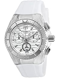 Technomarine 'Cruise' Quartz Stainless Steel and Silicone Casual Watch, Color:White (Model: TM-115050)