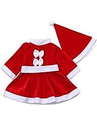 d05c9359e41 K-youth® Navidad Christmas Bebe Niña Disfraz Vestidos De Fiesta para Bodas  Niñas Navidad