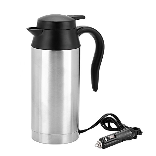 fosa Tragbare 750 ml 24 V Reise Auto Lkw Wasserkocher Wasser Heizung Flasche für Tee Kaffee Trinken,Campen,Außen Leben,Reisen usw. -
