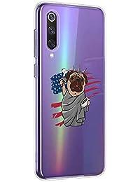 Oihxse Transparente Funda para Xiaomi Redmi 6 Ultrafina Silicona Suave TPU Carcasa Interesante Perro Patrón Flexible Protectora Estuche Antigolpes Anti-Choque (A6)