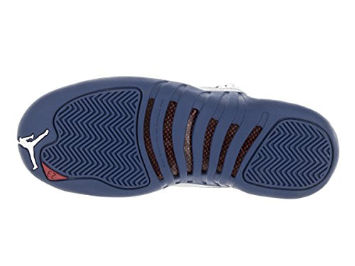 the latest 9f1a6 0f130 Sport Chaussures Jordan Nike Bg 12 Retro Air De Blanc Bleu Garçon xX6Onq06