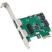 SYBA SD-PEX40100 PCI Express 2.0 5Gbit/s controlado RAID - Controlador RAID (Serial ATA III, PCI Express, ASMedia ASM1061R)