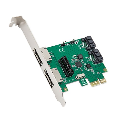 Syba SD-PEX400994Port SATA III PCI-Express 2.0x 1Controller Karte grün -