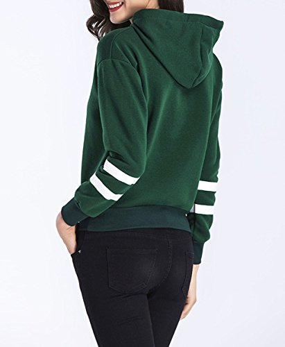 Eineukleid Femmes Casual Moderne Manches Longues Hoodie Sweat-shirts à Sweats à Capuche Sweatshirt Pulls Pullover Tops Blouse Vert