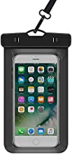 WiHoo Impermeable Móvil Universal 6 Pulgadas, Bolsa Movil Playa a Pruebva de Agua y Polvo de Suciedad, Funda Movil Agua IPX8 para iPhone 6 6s 5s 5c 4, Huawei p9 p8, Bq, LG, Xiaomi y Android- Negro