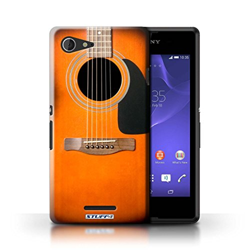 Kobalt® Imprimé Etui / Coque pour Sony Xperia E3 / Sunburst Acoustique conception / Série Guitare Sunburst Acoustique