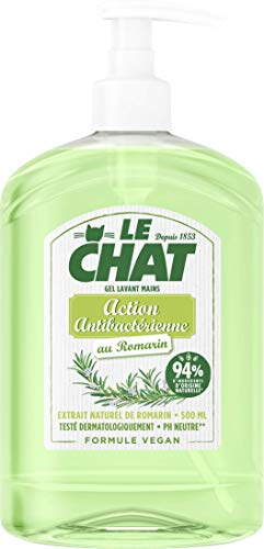 Le Chat - Savon Mains - Gel Lavant - Romarin - Action Antibactérienne - Formule Vegan - Flacon 500ml,LE CHAT,