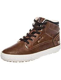 dd93710c849f Mustang Shoes High Top Sneaker in Übergrößen Kastanie 4129-602-301 große  Herrenschuhe,