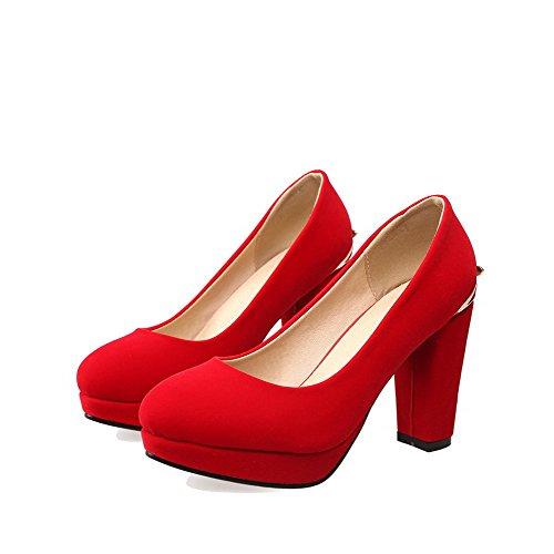 Talon Agoolar Femme Chaussures Unie À Dépolissement Haut Rond Tire TwtqIx