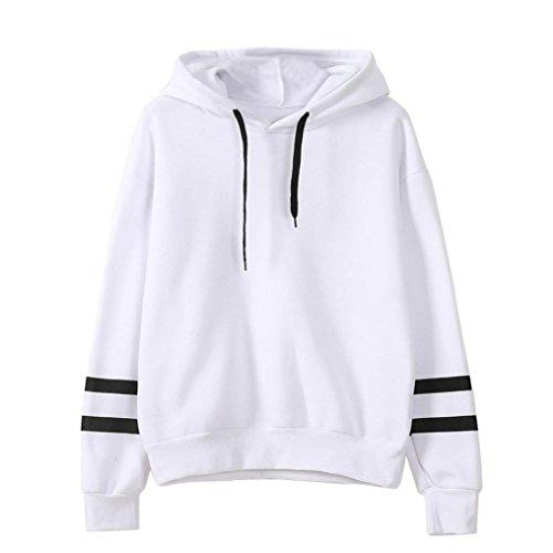 Damen Hoodie Sweatshirt, Zolimx Frauen Jumper Mit Kapuze Pullover (S, Weiß)