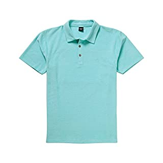 Cotton Traders Unisex Womens Mens Terry Towel Polo Shirt M Aquamarine