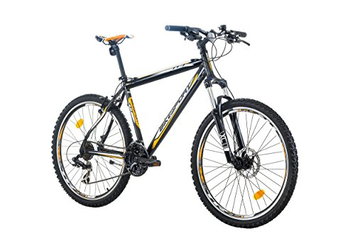 26 Zoll Bikesport MAVERICK Herren Fahrrad Mountainbike Aluminium Rahmen RH 48 cm Shimano 21 GANG Schwarz