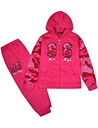c2a91d1abb7 JollyRascals Girls Tracksuit Set Kids Hoodie Camo Sleeves and Jogging  Bottom 2psc Suit New Ages 2