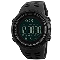 Skmei Sport Watch For Unisex Digital Rubber black supporting Android & iOS,Black- 1250