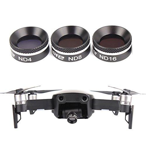 Hensych® RC Quadcopter filtro de lente MCUV/CPL/ND4/ND8/ND16/ND32 filtro para lente de aire DJI Mavic, 3 Pcs set(MCUV+CPL+ND8)
