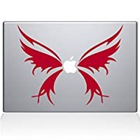 "ملصق من الفينيل مطبوع عليه The Decal Guru 1040-MAC-11A-G Butterfly Wings MacBook - 13"" MacBook Pro (2016 & Newer) - أحمر"