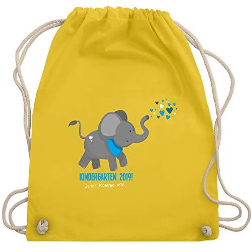 Kindergarten - Kindergarten 2019 süßer Elefant - Unisize - Gelb - WM110 - Turnbeutel & Gym Bag