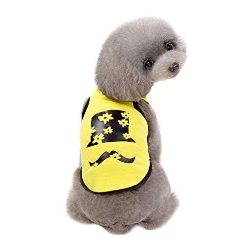 EUZeo Lovely Haustier Kleidung Puppy Kitten Kleine Hundebekleidung Baumwollweste Shirt Tragen im Frühling Sommer Weste Tanktops Vest Hündchen Kätzchen Tshirts Pullover Tanks Tops Sweatshirt
