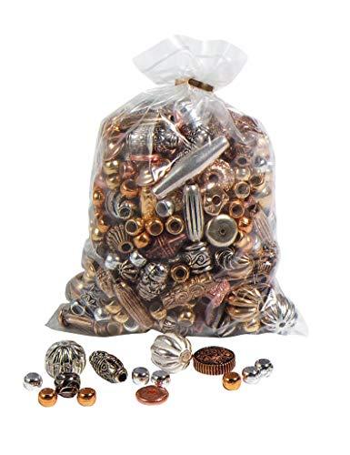 VBS Perlen-Mix Metallic, 200 g, Beutel Perlensortiment Mischung Großpackung