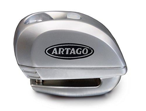 Artago 22S.6M Candado Antirrobo Moto Disco Alarma 120 Db y Warning Inteligente...