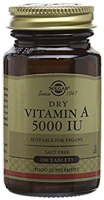 Solgar 5000 IU Dry Vitamin A Tablets - Pack of 100 by Solgar