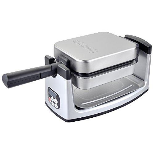 H.Koenig GFX360 Piastra Reversibile per Waffle, Sistema di rotazione a 180°, Piastre...
