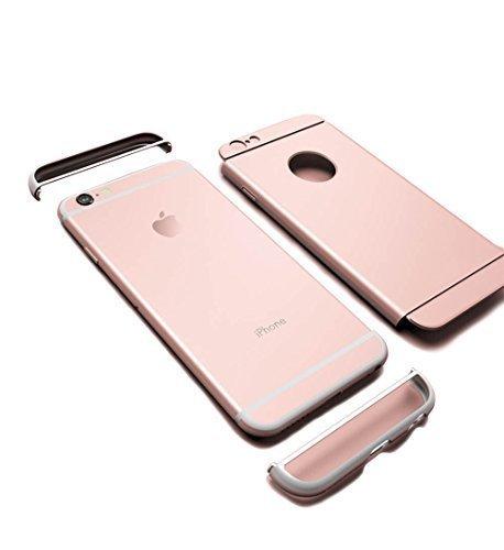 Vandot 1X Exclusive Unsichtbar Ultra Slim Dünn 0.9 MM Hart abziehbar Bumper für iPhone 6 6S 4.7 Zoll Rahmenschutz Hülle Glitzer Case Rückseite Bling Kristall Harte Hard Schale Tasche Etui Matt Air Pla Aufbau Pink