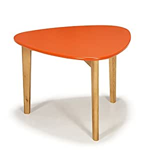 Siwa table basse scandinave vintage corail 60cm orange for Table basse scandinave amazon