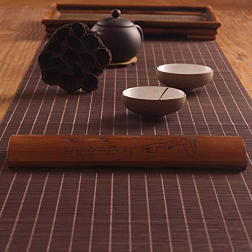 GOWINEU Japanische Bambus Tischl?Ufer Tischsets Tee Matten Pad Decke Decor Teiler Vorhang Home Cafe Restaurant Dekoration -